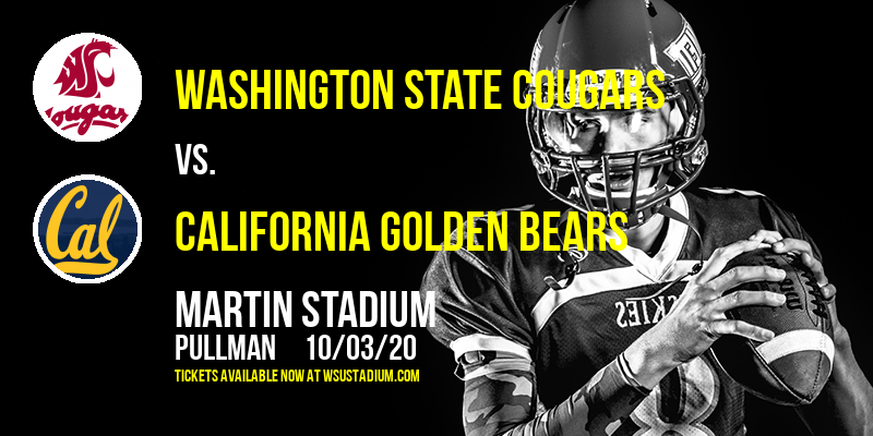Washington State Cougars vs. California Golden Bears at Martin Stadium